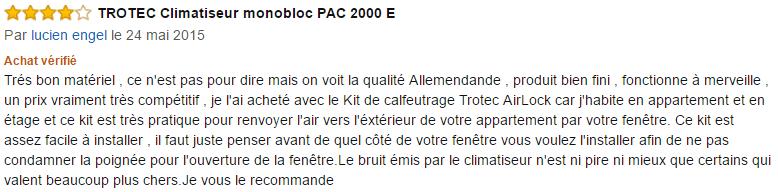 Trotec PAC 2000 E avis (2)